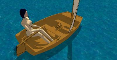 SketchUp models of some of my free boat designs ...