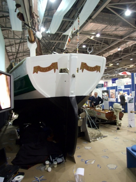 200-year old smack Boadicea at the Boat Show