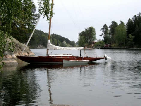 Forest & Stream skiff in Sweden