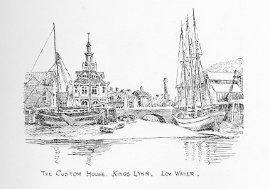 The Custom House. King's Lynne. Low Water. Claude Worth