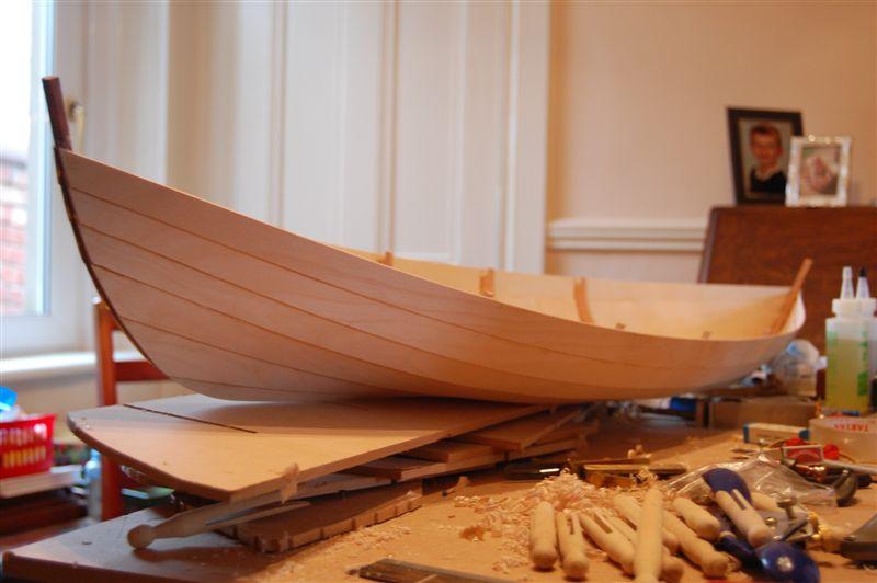Alec Jordan's beautiful model of Iain Oughtred's new Scottish rowing skiff | intheboatshed.net