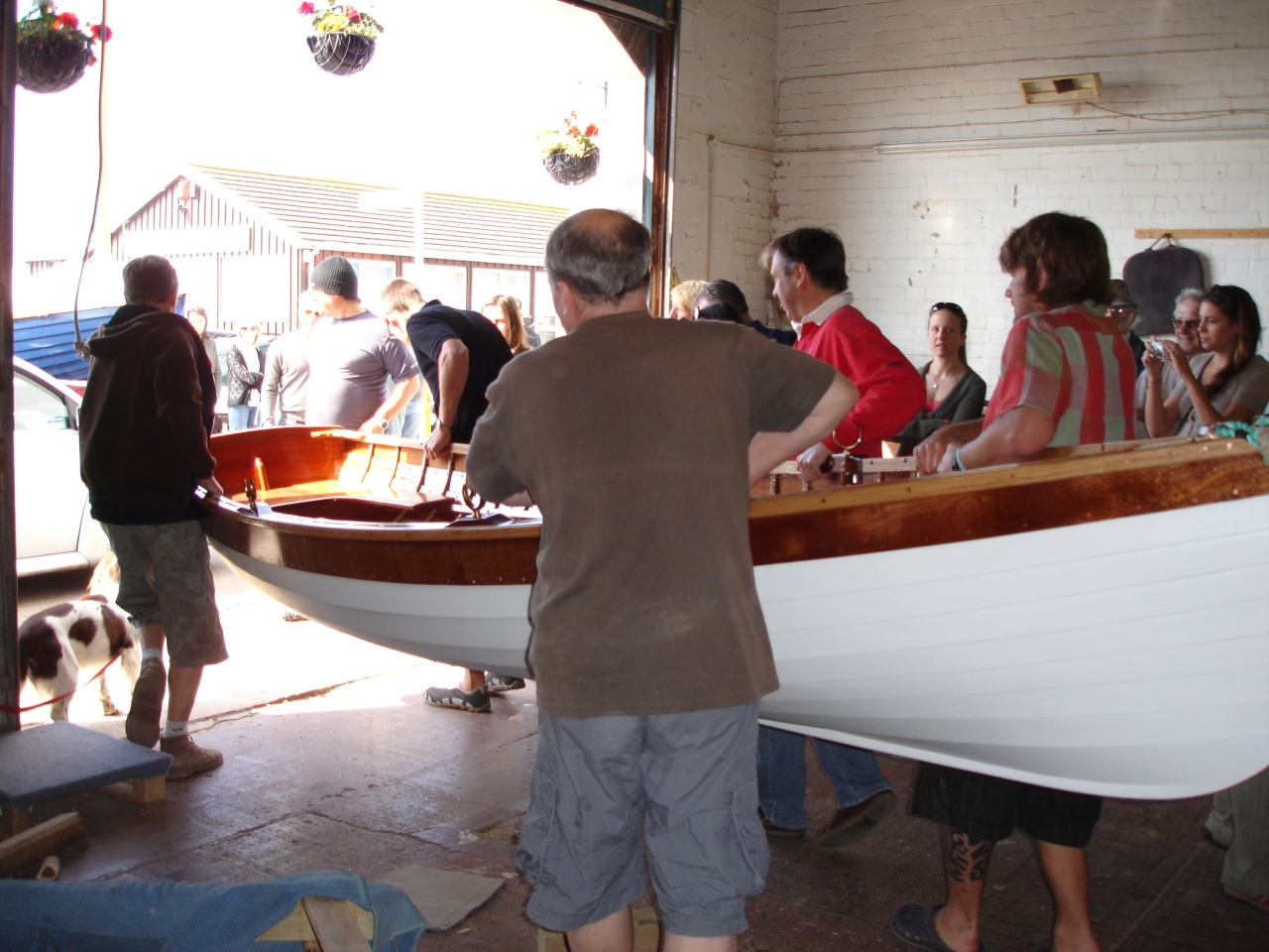 Johnny 39 s boat leaves the workshop for Building classic small craft