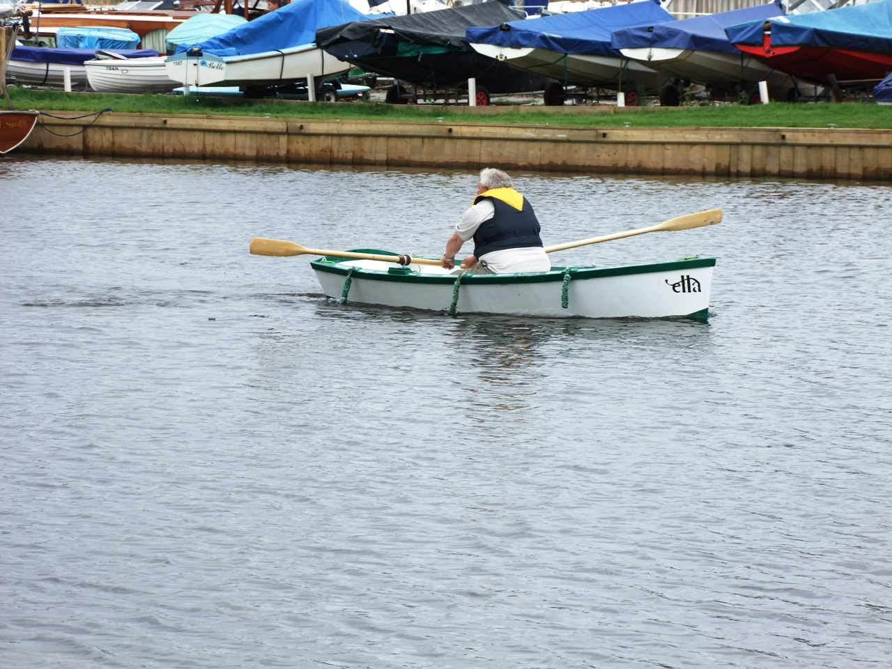 ella skiff, norman fuller, electric boat, electric skiff, rowing skiff ...