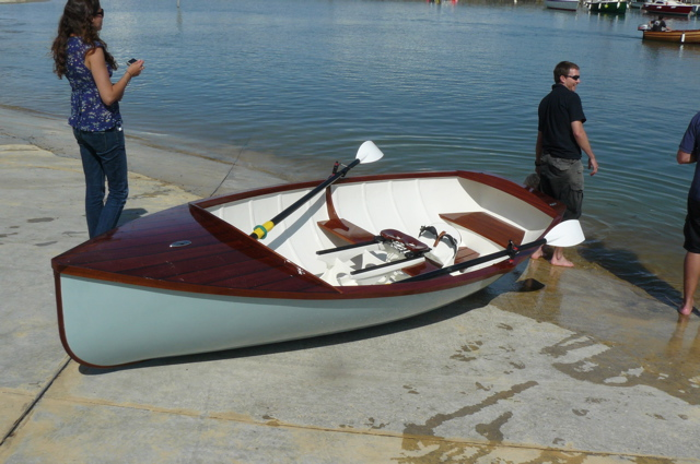 Boat Building Academy students launch a 14ft rowing skiff with wooden ...