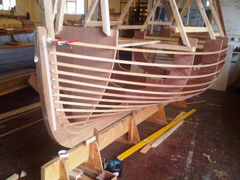 Student boat building project. brockway scow