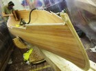 Wooden boat building in progress at the Boat Building Academy