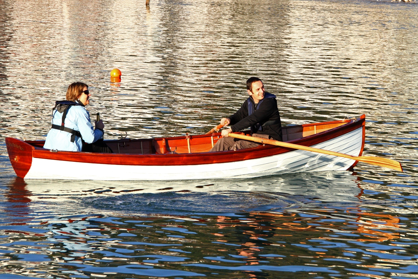 Glued clinker John Gardner Whitehall skiff launched by BBA students | intheboatshed.net