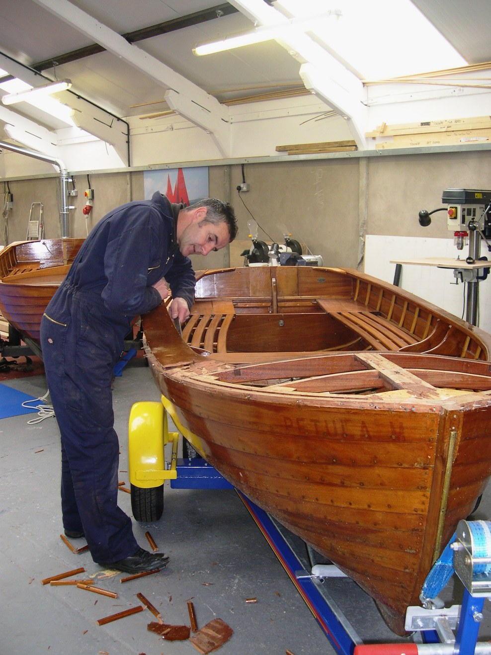 Good wood boat building