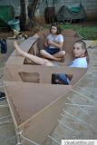 Moffett family build sailing Ella skiff in Mauritius