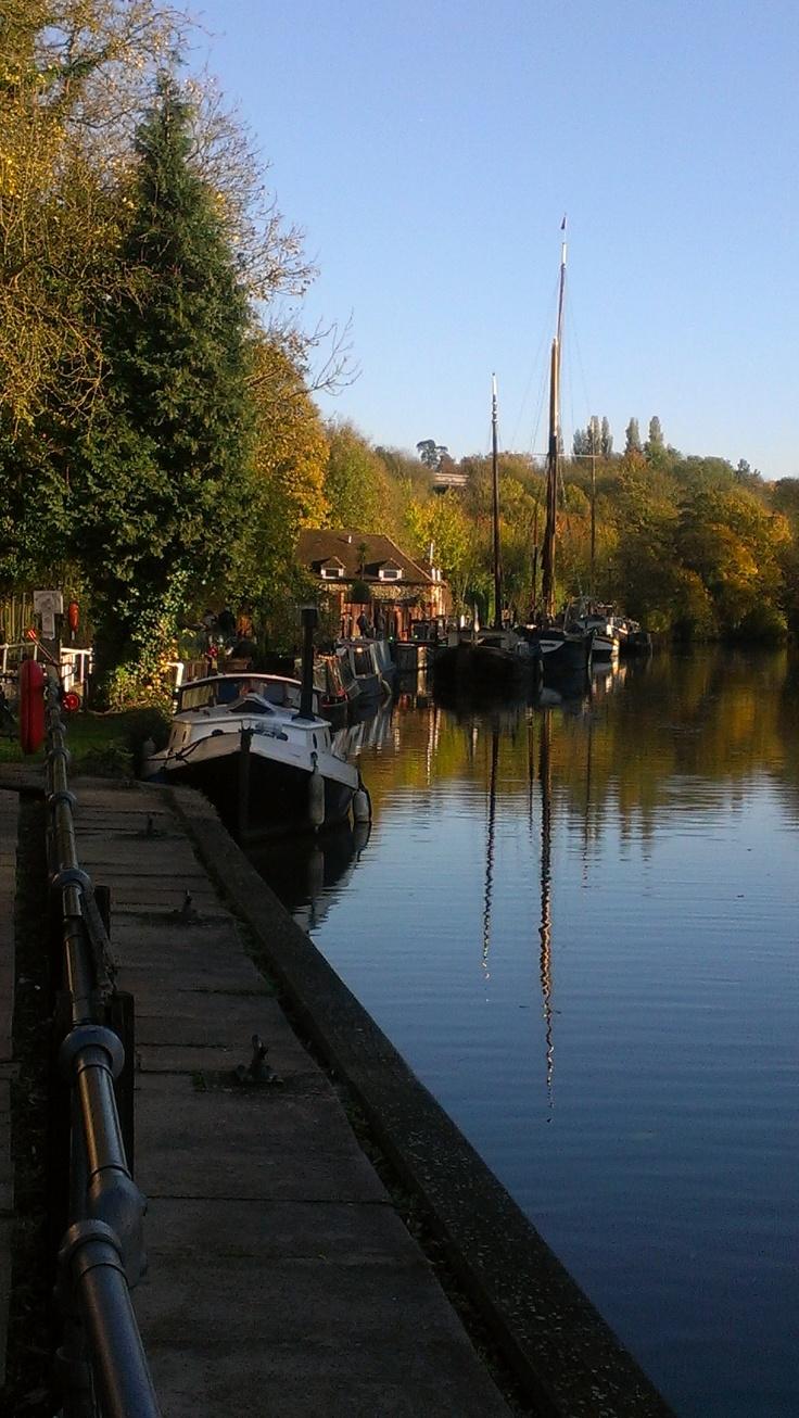 Boats On The Medway At Allington 1 Intheboatshed Net