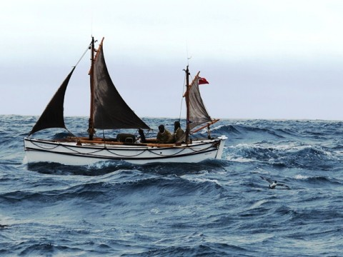 Alexandra Shackleton 64 nautical miles from Elephant Island.  Image Jo Stewart Shackleton Epic.