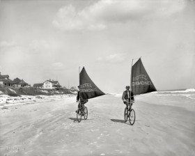 Land sailing Ormond Florida circa 1900 from Shorpy 3