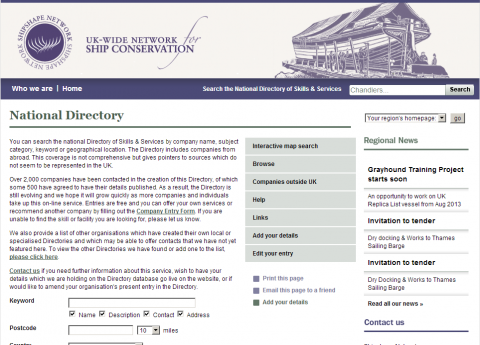 Shipshape directory