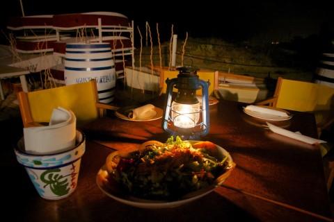 Light Trow Onawind Blue now lives in a beach bar