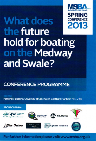 Medway and Swale Boating Association conference programme 1