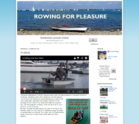Rowing for Pleasure sculling
