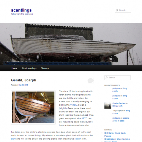 Scantlings Weblog