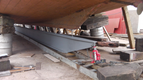 White Moth gets a steel keel