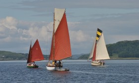 Greensleeves, Witch and Capraia in Cuan Sound - Pic Ben Collins