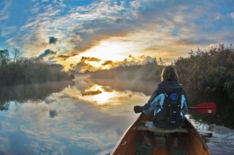 actively yours winning image - Broads canoeist