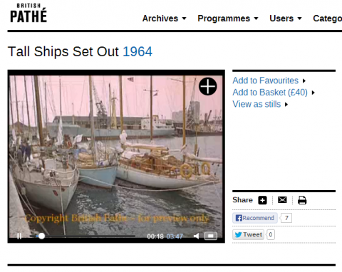 Tall Ships Set Out 1964