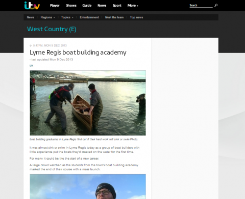 BBA December student launch covered by ITV