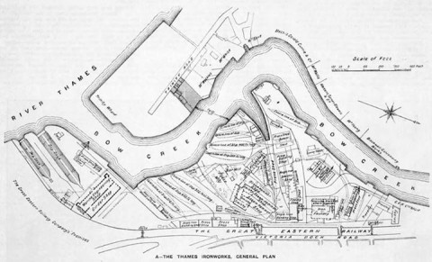 Thames Ironworks Heritage Trust map