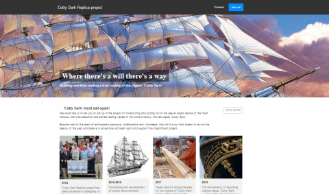 Replica Cutty Sark project