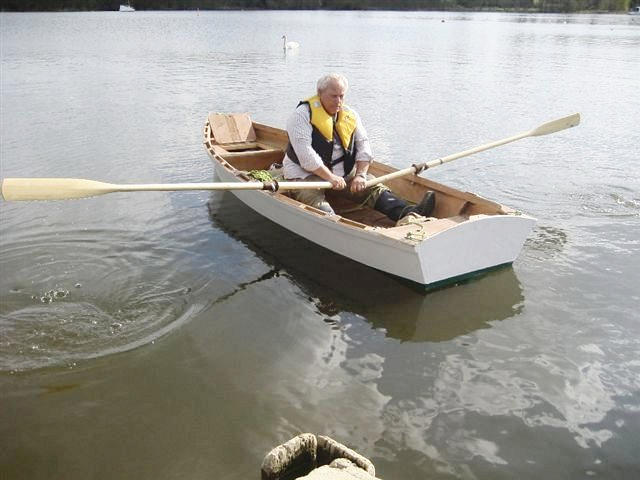 Norman Fuller launches his Ella plywood skiff built to ...