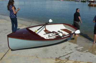 Boat Building Academy students launch a 14ft rowing skiff ...