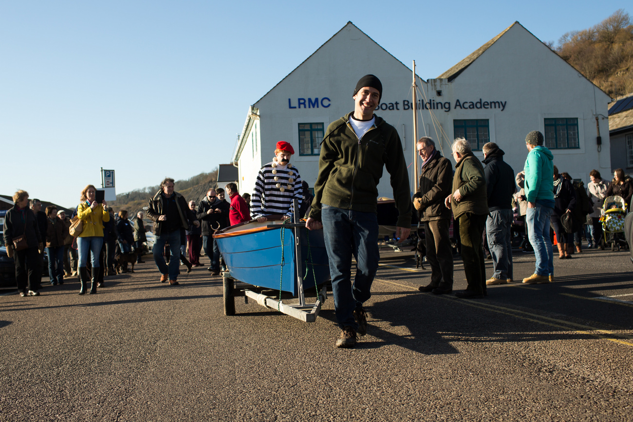 Boat Building Academy Lyme Regis launch 2014 photographs ...
